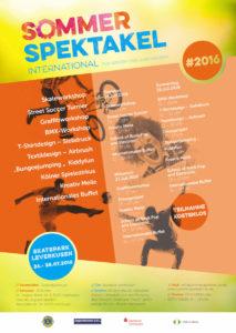Poster zum Sommerspektakel 2016